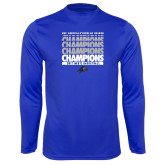 Syntrel Performance Royal Longsleeve Shirt-Mens Basketball Champions Stacked