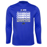 Syntrel Performance Royal Longsleeve Shirt-2017 Mens Basketball Champions Repeating