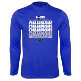 Performance Royal Longsleeve Shirt-2017 Womens Basketball Champions Repeating