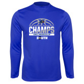 Syntrel Performance Royal Longsleeve Shirt-2017 Womens Basketball Champions Half Ball