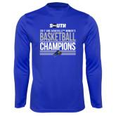 Performance Royal Longsleeve Shirt-2017 Womens Basketball Champions Stacked