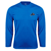Performance Royal Longsleeve Shirt-A w/ Bulldog Head