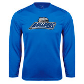 Performance Royal Longsleeve Shirt-Bulldogs w/ Bulldog Head