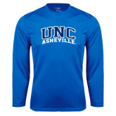 Syntrel Performance Royal Longsleeve Shirt-Arched UNC Asheville