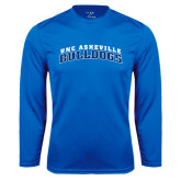 Performance Royal Longsleeve Shirt-Arched UNC Asheville Bulldogs