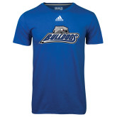 Adidas Climalite Royal Ultimate Performance Tee-Bulldogs w/ Bulldog Head