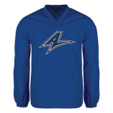 V Neck Royal Raglan Windshirt-A