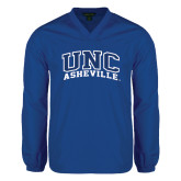 V Neck Royal Raglan Windshirt-Arched UNC Asheville