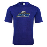 Performance Royal Heather Contender Tee-Bulldogs w/ Bulldog Head