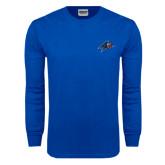 Royal Long Sleeve T Shirt-A w/ Bulldog Head