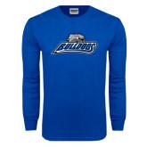 Royal Long Sleeve T Shirt-Bulldogs w/ Bulldog Head