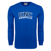 Royal Long Sleeve T Shirt-Arched UNC Asheville