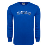 Royal Long Sleeve T Shirt-Arched UNC Asheville Bulldogs