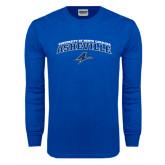 Royal Long Sleeve T Shirt-Arched University of North Carolina Asheville Bulldogs