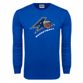 Royal Long Sleeve T Shirt-Basketball
