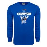 Royal Long Sleeve T Shirt-2016 Big South Champions Mens Basketball