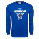 Royal Long Sleeve T Shirt-2016 Big South Champions Womens Basketball