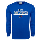 Royal Long Sleeve T Shirt-2017 Womens Basketball Champions