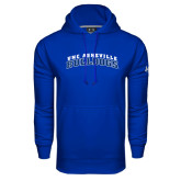 Under Armour Royal Performance Sweats Team Hoodie-Arched UNC Asheville Bulldogs