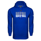 Under Armour Royal Performance Sweats Team Hoodie-UNC Asheville Basketball Repeating