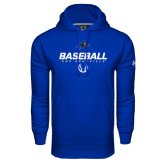 Under Armour Royal Performance Sweats Team Hoodie-UNC Asheville Baseball Stencil