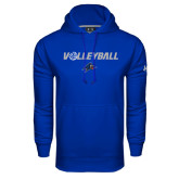 Under Armour Royal Performance Sweats Team Hoodie-Volleyball w/ Ball