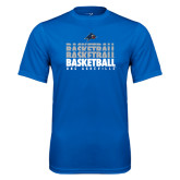 Performance Royal Tee-UNC Asheville Basketball Repeating