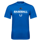 Performance Royal Tee-UNC Asheville Baseball Stencil
