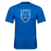 Performance Royal Tee-Soccer Shield