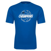 Performance Royal Tee-Mens Basketball Champions with Ball