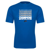 Performance Royal Tee-Mens Basketball Champions Stacked