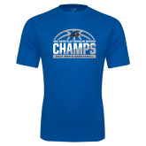 Performance Royal Tee-Mens Basketball Champions Half Ball
