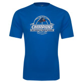 Performance Royal Tee-Mens Basketball Champions Ball with ribbon