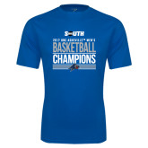 Syntrel Performance Royal Tee-2017 Mens Basketball Champions Stacked