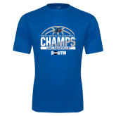 Performance Royal Tee-2017 Mens Basketball Champions Half Ball