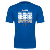 Syntrel Performance Royal Tee-2017 Womens Basketball Champions Repeating