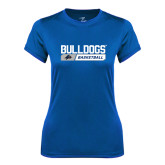 Ladies Syntrel Performance Royal Tee-Bulldogs Basketball Bar