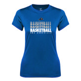 Ladies Syntrel Performance Royal Tee-UNC Asheville Basketball Repeating