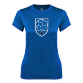 Ladies Syntrel Performance Royal Tee-Soccer Shield