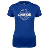 Ladies Syntrel Performance Royal Tee-Mens Basketball Champions with Ball