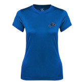 Ladies Syntrel Performance Royal Tee-A w/ Bulldog Head
