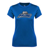 Ladies Syntrel Performance Royal Tee-Bulldogs w/ Bulldog Head
