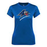 Ladies Syntrel Performance Royal Tee-Basketball