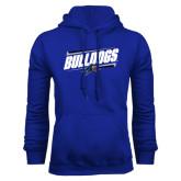 Royal Fleece Hood-Slanted Bulldogs w/ Logo