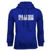 Royal Fleece Hood-Bulldogs Basketball Bar