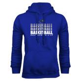 Royal Fleece Hood-UNC Asheville Basketball Repeating