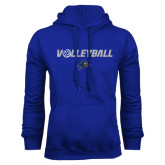 Royal Fleece Hoodie-Volleyball w/ Ball