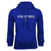 Royal Fleece Hoodie-Volleyball w/ Ball