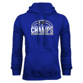 Royal Fleece Hoodie-Mens Basketball Champions Half Ball