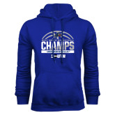 Royal Fleece Hoodie-2017 Mens Basketball Champions Half Ball